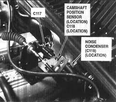 2000 kia sportage the camshaft sensor located 2 0l diagram