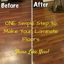 Laminate Floors  Make Them Shine Again! Easy DIY step to make laminate  floors shine