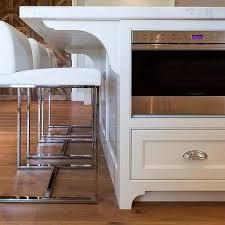 modern white floors. White KItchen Island With Modern Counter Stools Floors H