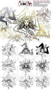 10 Medusa Trinacria Sicilian Flag Designs Digital Files Svg   Etsy