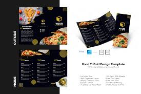 If it's only free for personal use, you will need to buy the font in order to use it in commercial projects. Food Trifold Brochure Design Template Graphic By Rivatxfz Creative Fabrica