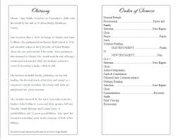 Funeral Program Memorial Service Template Publisher Mediaschool Info
