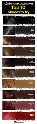 Age Perfect Hair Color Chart Loreal Hair Color Chart Top 10 Shades For Indian Skin Tones