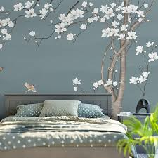 beautiful white magnolia flower wall