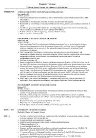 Information Security Engineer Sample Resume Information Security Engineer Senior Resume Samples Velvet Jobs 16