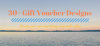 30 Gift Voucher Designs Create Your Own Marketing