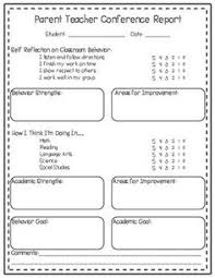 Parent-Teacher Conference Forms Editable | Classroom Information ...