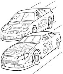 Printable Cars Coloring Pages