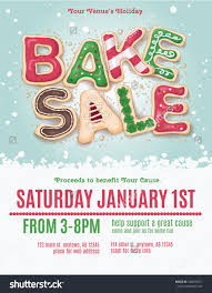 christmas holiday bake flyer template stock vector  christmas holiday bake flyer template hand drawn cookie letters