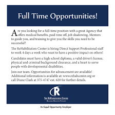careers the rehabilitation center full time opportunitiees