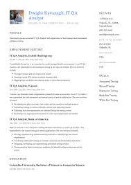 It Analyst Resume IT QA Analyst Resume Sample Resumeviking 23