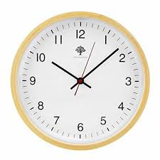 hippih silent wall clock wood 8 inches non ticking digital quiet sweep decorative vintage wooden clocks