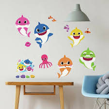 baby shark l stick 39 wall decals