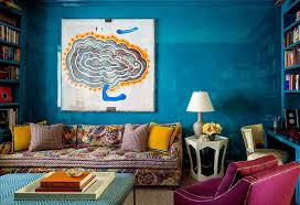 colorful furniture. Blue Living Room With Colorful Furniture I