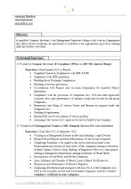 Company Resume Examples Delectable Company Resume Samples Resume Sample Word Doc Best Company Secretary