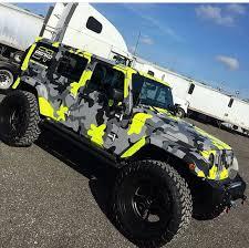 multi colored jeep 4 door