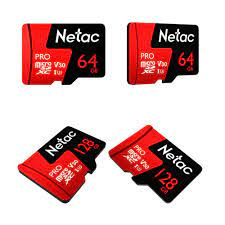 Thẻ nhớ MicroSD 64GB/128GB Netac U3 Pro 100Mb/s dùng cho Flycam 4K , Máy  ánh, Điện thoại
