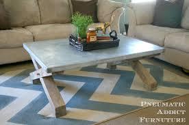 ana white pottery barn knock off zinc coffee table diy projects pottery barn s pottery barn baby
