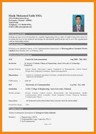 Mba Fresher Resume Hr Format For Freshers Doc Beautiful Examples At