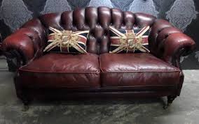 stunning chesterfield winchester low hump back 2 seater oxblood red leather sofa uk delivery