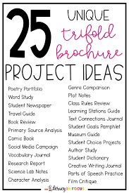 25 Unique Trifold Brochure Project Ideas Literacy In Focus