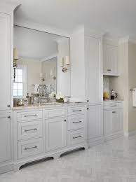 pictures of bathrooms with white cabinets. marble herringbone floor pictures of bathrooms with white cabinets