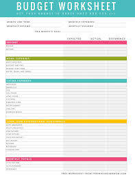 free family budget worksheet household budget template printable vastuuonminun