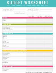 Household Budget Template Printable Vastuuonminun