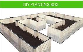 magic balcony garden diy planting box rectangular plastic flower pot roof planting groove water storage vegetable