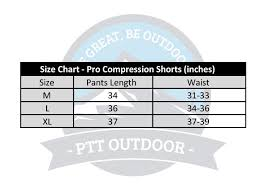 Size Chart Short Ptt Outdoor