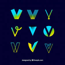 Letter V Templates Logo Letter V Template Collection Vector Free Download
