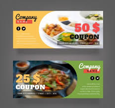 coupon design 16 food coupons psd vector eps download