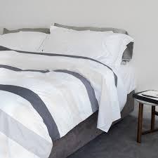 cinta grey striped cotton duvet cover