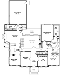 bedroom house plans story elegant two bath traditional 5 2 4 of