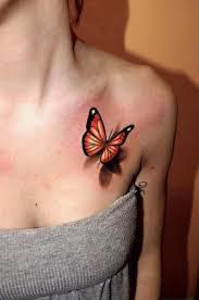 3d Butterfly Feminine Tattoo On Chest Tattoos Book 65000