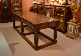 Vintage Oak Dining Table Traditional Antique White Dining Room Set With Round Table 11602
