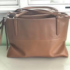 Coach Borough Bag Glove Leather Camel Large