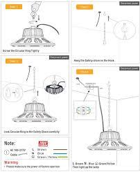 160w ufo high bay light ufo led highbay light installation manual