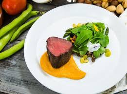 These are the best cuts of beef to tenderise: Roasted Beef Tenderloin With Vegetables And Romesco Sauce Good Steak Recipes Beef Beef Dishes