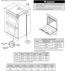 dacor renaissance electrical specifications