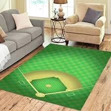 baseball field rug motivate com area rugs carpet 7 x 5 feet as well large