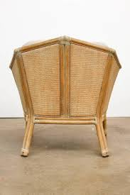 bamboo rattan chairs. Pair Of McGuire Geometric Bamboo Rattan Club Chairs For Sale 1 L