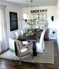 dinning room rug sweet and y bacon wrapped en tenders farmhouse dining best dining room rugs