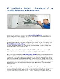 air conditioning sydney. air conditioning sydney - importance of service and maintenance most people don\u0027t o
