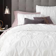 organic cotton pintuck duvet cover