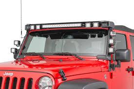 Jeep Tj 50 Light Bar Mount Rugged Ridge 11232 50 Elite Fast Track Windshield Light Bar Mounting Brackets For 07 18 Jeep Wrangler Jk