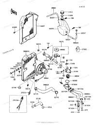 Kawasaki motorcycle 1986 oem parts diagram for radiator partzilla