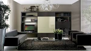 ravishing silver chandelier with built in cabinetry shelves storage as well as grey sofa on black rugs in black ideas for living room themes