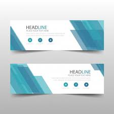 banner design template blue abstract banner template design vector free download