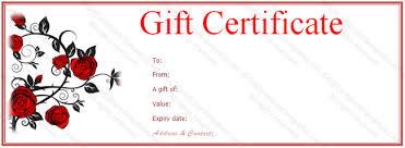 Rose Gift Voucher Template Gift Voucher Templates